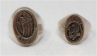 Two Men's Silver Rings