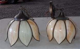 2 Hanging Stained Glass Lights