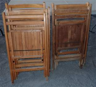 Wooden and Metal Folding Chairs