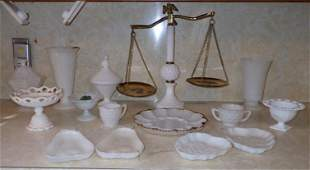 Milk Glass Candy Egg Dishes Compotes Vases
