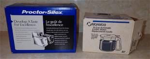 Proctor Silex Toaster Norelco Coffee Pot