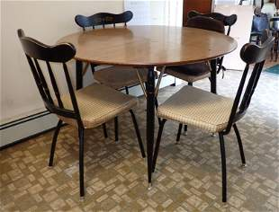 Vintage Howell Table & 4 Chairs