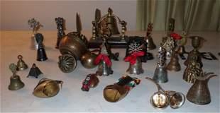 Brass Cast Iron & Silverplate Bells