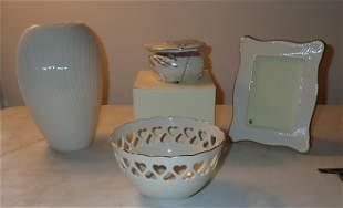 Lenox Vase Heart Trinket Box Bowl