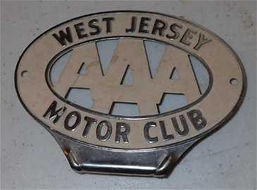 AAA West Jersey Motor Club Bumper Tag