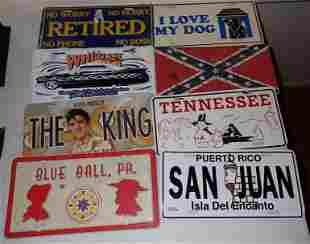 Misc License Plates Rebel Flag