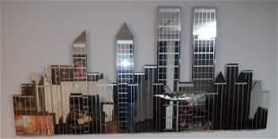 4pc Cityscape Mirror