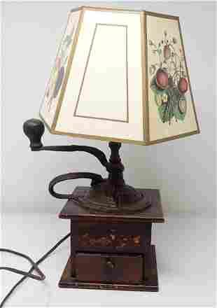 Coffee Grinder Lamp