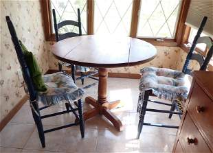 Drop Leaf Kitchen Table 4 Ladderback Chairs