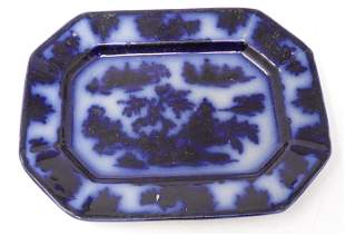 Ironstone Flowblue Chapoo Platter