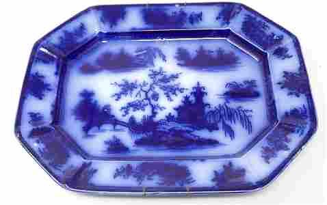 Chapoo Ironstone Flowblue Platter