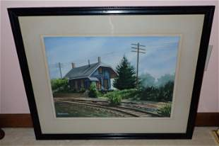 Flemington Jct Signed Watercolor Painting