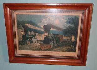 Currier & Ives Lightning Express Trains Litho (3)