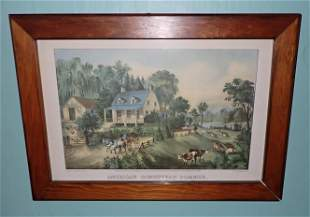 Currier & Ives American Homestead Summer Litho