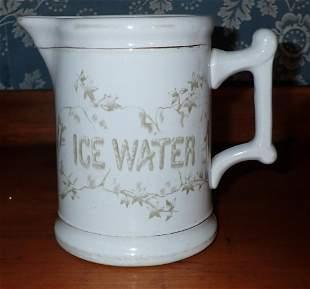 Ironstone Ice Water Pitcher