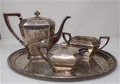 Gorham Sterling Silver Fairfax Tea Set