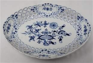 Meissen Basket Weave Serving Dish