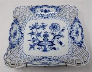 Meissen Basket Weave Dish