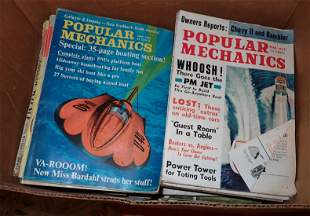 Box Full of Popular Science Magazines