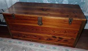 Cedar Chest Filled with Blankets