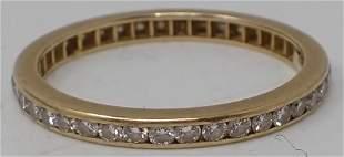 Tiffany & Co. 750 Gold Diamond Wedding Band