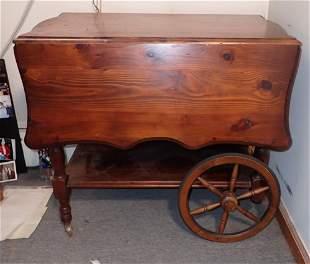 Pine Tea Cart