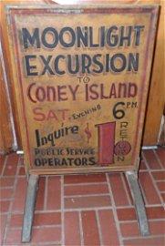 Coney Island Moonlight Excursion Curb Sign