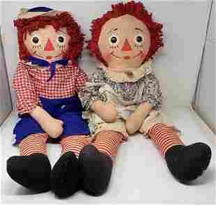Knickerbocker Raggedy Ann & Andy Dolls