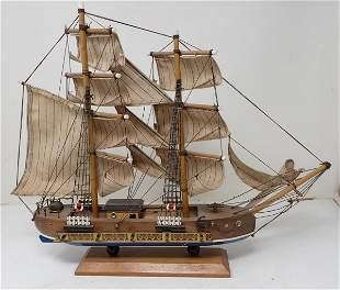 Hurricane Wooden Ship Model