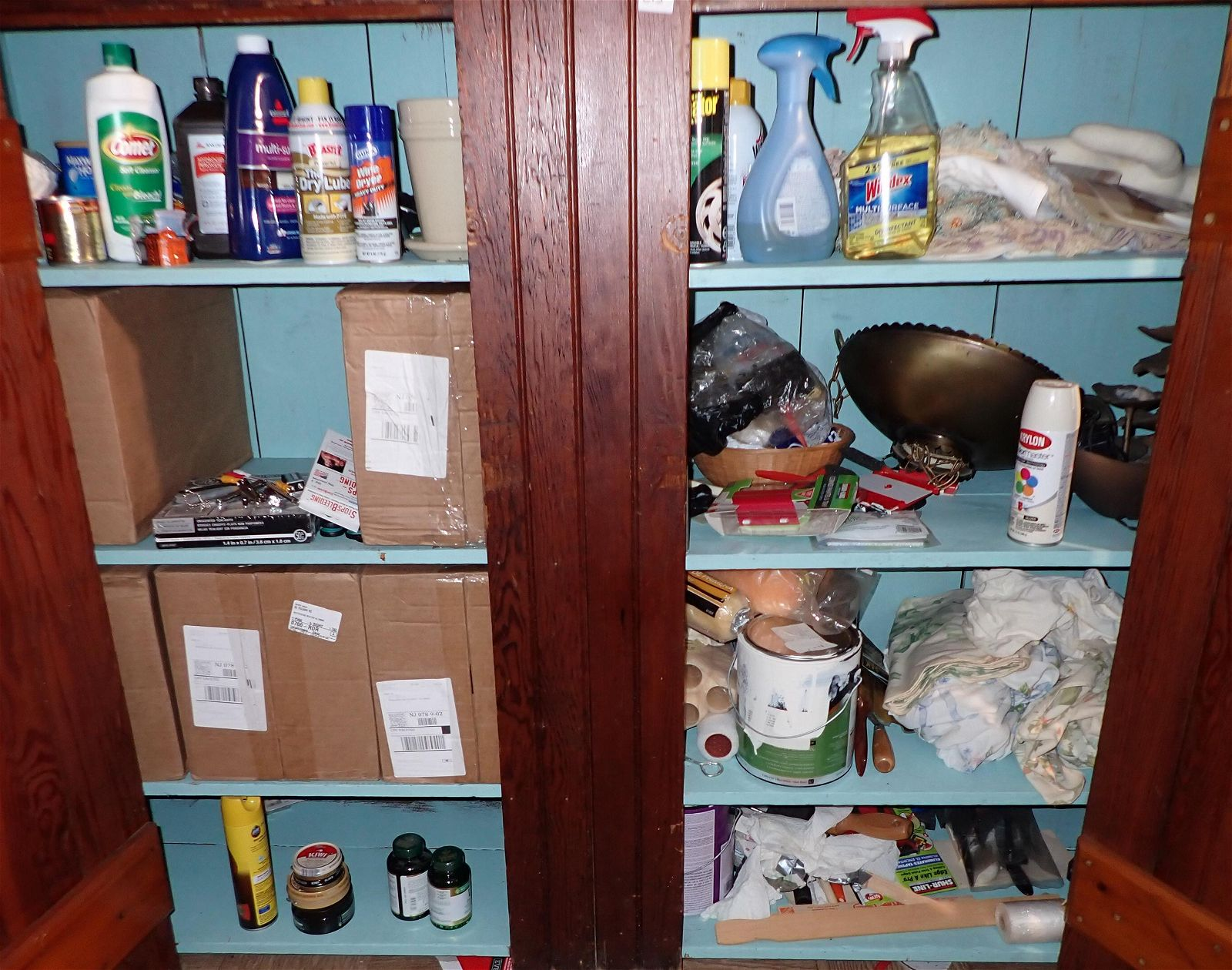 Contents of Cupboard