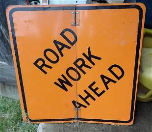 Folding Road Work Sign