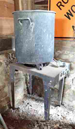 Propane Stove and Aluminum Pot
