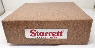 Starrett Crystal Pink Surface Block / Plate