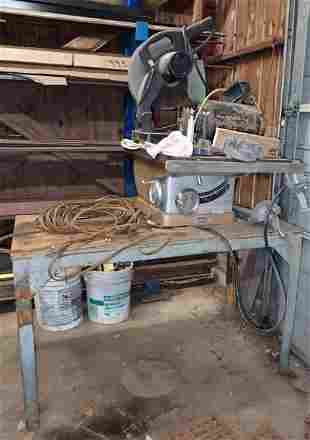 Workbench Craftsman Table Saw Porter Cable Chop Saw