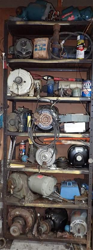 Electric Motors Pumps and Mis Shelf Contents