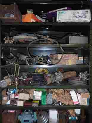 Lathe Parts Pulleys Shelf Contents