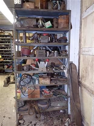Lathe Parts Misc Shelf Contents