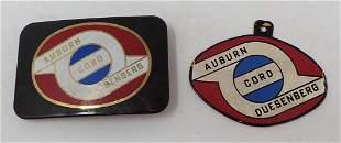 Auburn Cord Duesenberg Buckle & Enameled Plaque