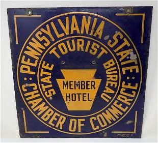 Pennsylvania Chamber of Commerce Porcelain Sign