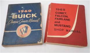 1960 Buick 1965 Ford Mustang Shop Manuals