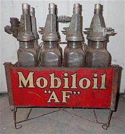 Mobiloil AF Oil Bottles & Mobil Carrier Filpruf