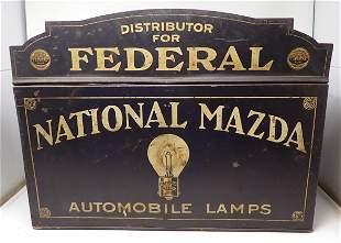 Federal National Mazda Automobile Lamp Store Display