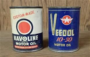Halvoline Veedol Tin Oil Can Banks