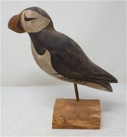 Carved Bird Signed WEK