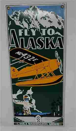 Porcelain Alaska Washington Airway Sign
