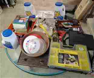 Parts Organizer Drill Bits Sockets Tools Table Lot