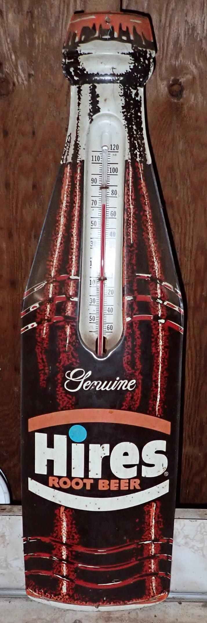 Hires Root Beer Thermometer Sign