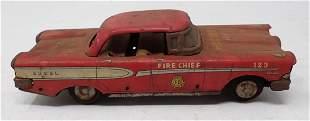 Tin Corsair Edsel Fire Dept Car