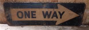 Metal One Way Sign