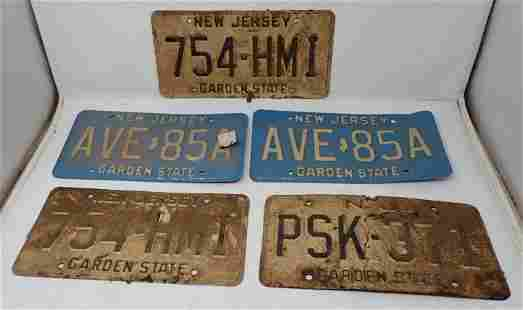 Vintage NJ License Plates